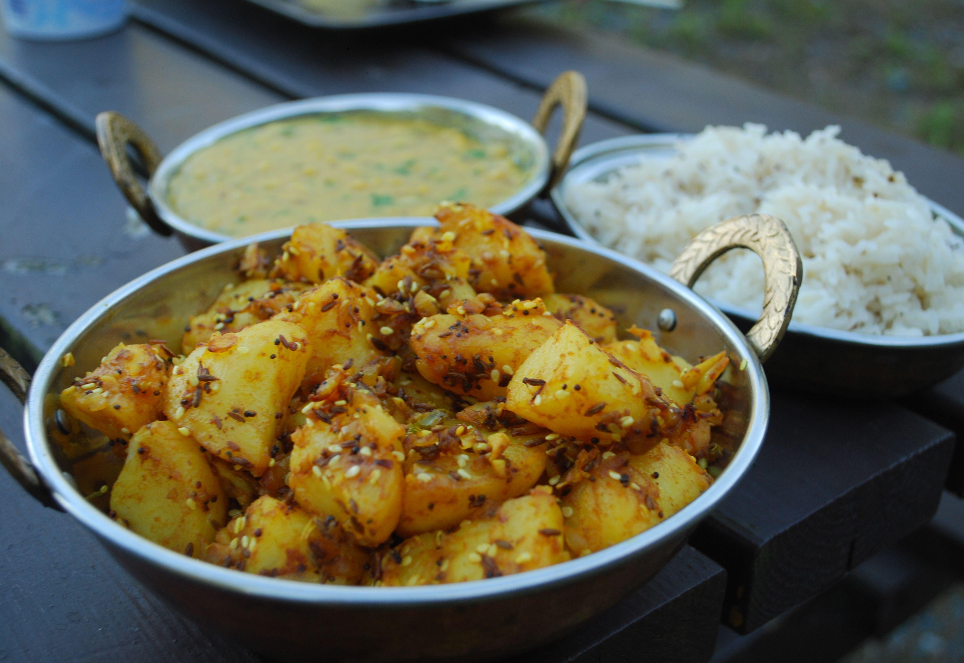 Aloo jeera- den herligste indiske potetretten