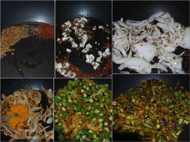 Bhindi masala indisk