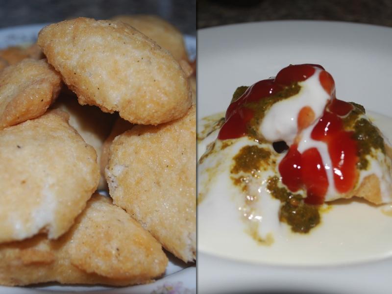 Dahi bhalle: Servers med kald yoghurt og chutney til