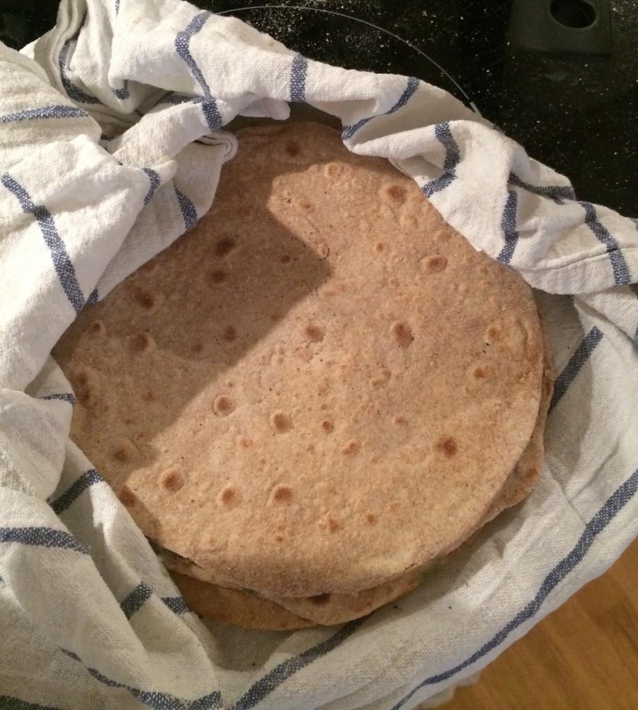 Roti eller cahapati er hverdagskost for mange indere.
