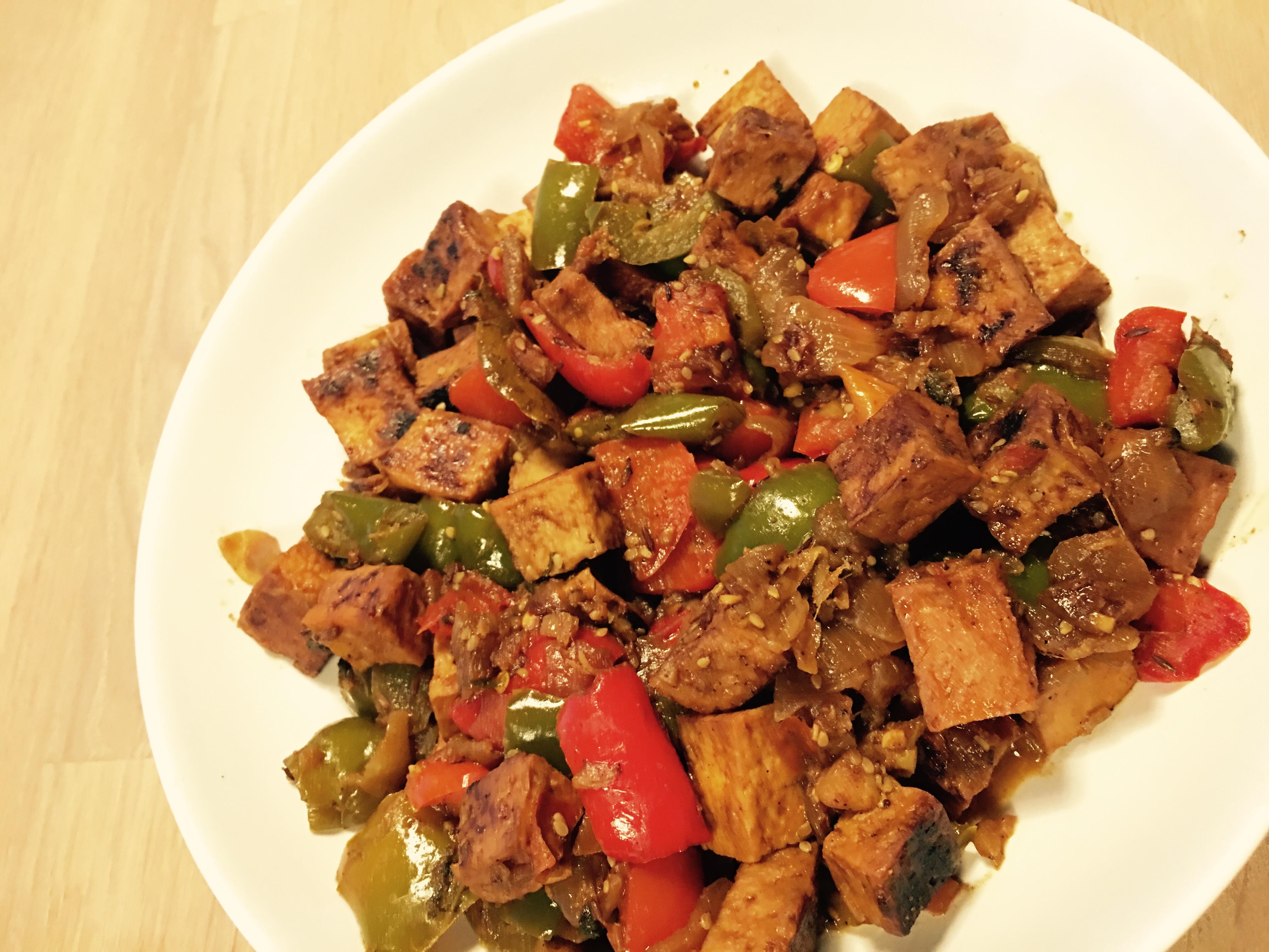 Tofu paprika masala