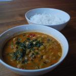 Squashmasala med spinat og kikerter