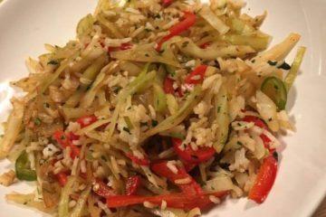Stekt hodekål med ris